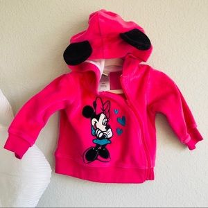 3-6M Minnie Mouse Velour Zip Up!